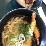 Daisenakukantorikurabu - 2020.4.17えび天うどんと鰻ご飯