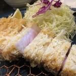 129319144 - 京都中勢以長期熟成豚の特上ロースかつ定食(120g)