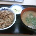 松屋 - 朝得ミニ牛めし豚汁セット