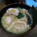 江戸一 - 豚鶏ラーメン味玉トッピング