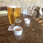プレストンカフェ - ビールLとビールM