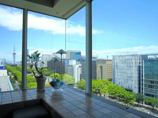 アロマフレスカ 名古屋 - 窓越しからは栄が一望できます