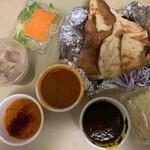 インディアンダイニング&バー ナン - 料理写真:3カレーセット(マトン、サグチキン、ベジタブル)