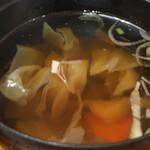 あんべ - 野菜スープ付き
