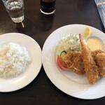 洋食屋クメキッチン - 料理写真:ミックスフライランチ@1,419円