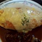 レストラン とまと - ミニオムライスセット:チーズ&デミグラス