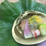 いち凜 - 料理写真:夏野菜と車エビ