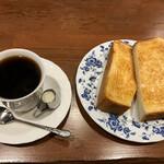 喫茶フィガロ - バタートーストセット☕️