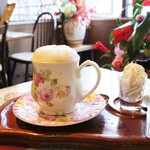 喫茶ツヅキ - カフェオレ