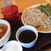 蕎麦 二天 - 料理写真:ざる二色(茶葉、白) 950円、牛ホルモン汁 350円、大盛200円(全て税込)