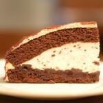 まきや - ケーキセット 800円 のチョコレートケーキ