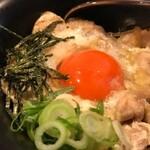 鶏バル 水口 - 地鶏の親子丼