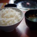 焼肉しゃぶしゃぶ ぶう - ご飯&味噌汁~☆