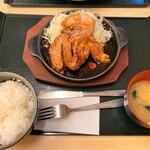 ゆうたく - ゆうたく@帯広 十勝トンテキ定食(1050円)