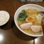 129367003 - しおらーめん と 無料の麦飯(小)
