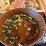 天ぷらとサカナ 天ぷら酒場 KITSUNE - みそ汁