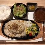 029吉祥寺食堂 - 濃厚クリームハンバーグ定食/ミニサラダ ¥1,530