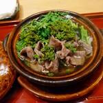 129383015 - 花山椒と牛鍋