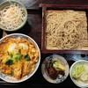 蕎麦厨房 岩戸屋 - 料理写真:2020年4月 かつ丼セット(冷たいそば) 1350円