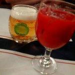 スパゲティハウス - ビールとブラッドオレンジ