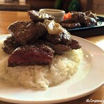129405482 - Steak On the rice