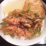 味処 むさし野 - 山菜こしあぶらと生桜海老のかき揚げと大根の煮物とさつま揚げ!
