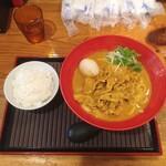 千駄木うどん 汐満 - 豚カレーうどん肉2倍+ご飯セット 1,190円(税込)