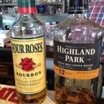 オーピンク - フォアローゼスとハイランドパーク、スコッチもおいしい。