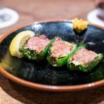 鳥茂 - ピーマン肉詰め 塩