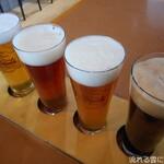 ブロイハウス 大沼 - ドリンク写真:定番4種類飲み比べセット