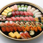 板前寿司  - 松5-6人前