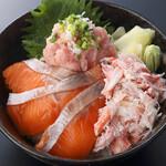 板前寿司  - 豪華三色丼