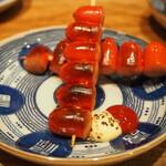 炭火焼鳥 きち蔵 - 赤ウインナー