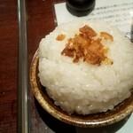 つけ麺 繁田 - 仏様盛の〆ご飯