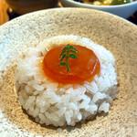 Kyoutoshijoukuwon - 丹波コシヒカリ麦ご飯の西京漬黄卵のせ(セット)