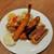 グリル 樹林亭 - 料理写真:内容は日替わり?この日は4種類、右から順にビフカツ、ポークカツ、海老フライ、唐揚げ