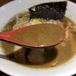 129459307 - 濃厚煮干しそばのスープ