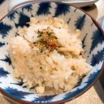 鯛白湯らーめん ○de▽ - 鯛めし(小)150円