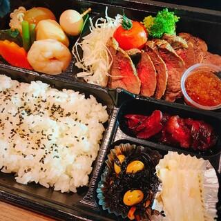 100g牛ロースステーキ弁当!