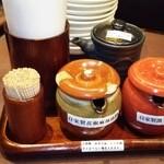 陳家私菜 - 料理写真:調味料