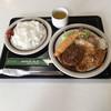 かぶき - 料理写真:Bランチ ¥1050 ハンバーグ 海老フライ ポークソテー