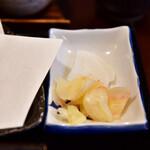 舞扇 - 【野菜かき揚げせいろ@1,000円】お新香