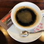 アレグロ - KIMBOのコーヒー。真のナポリコーヒーと言われています♪スプーンもKIMBO♡
