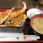 安楽 - お昼のサービス丼「天丼」