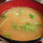 安楽 - 味噌汁