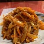 中華料理 愛福楼 - 牛もつとドウバンジャン和え物