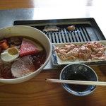 千秋 - 冷麺 + ホルモン焼き