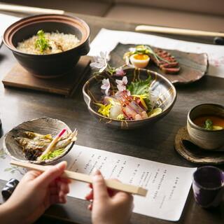 いいものをちょっとずつ。料理を楽しむ集まりには会席コースを