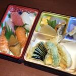 すしダイニング - 料理写真:【持帰】にぎり鮨と天ぷら弁当