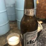 立ち飲み居酒屋ドラム缶 - 瓶ビールはアサヒ